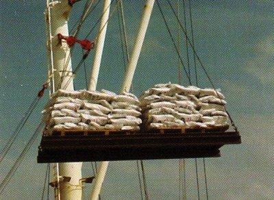 Unloading Rice Cargo