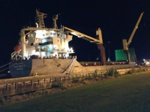 Unloading Ship
